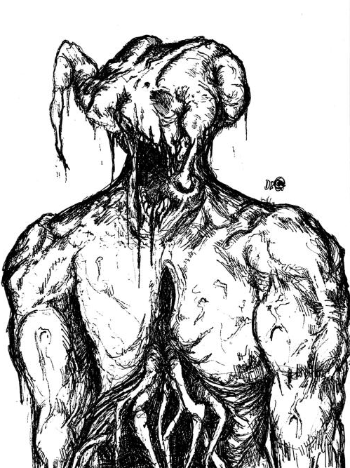 drew a headcrab zombie from memory