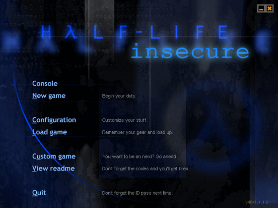 So, i've ported Insecure to Half-Life's retail version (WON). With the old weapon bobbing and view rolling restored.
