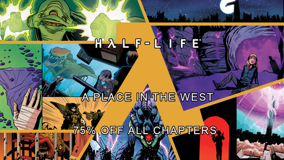 Today we celebrate five years on Steam. That's really cool. So cool, in fact, that we've discounted every chapter of the comic, and both volumes of the soundtrack, by 75%. Yikes!  https://store.steampowered.com/dlc/466270/HalfLife_A_Place_in_the_West/