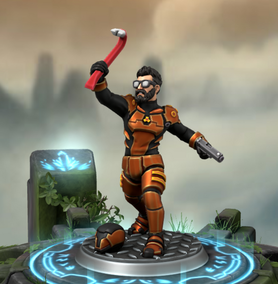 Redid the Hero Forge Gordon, I'd say this one is more accurate.