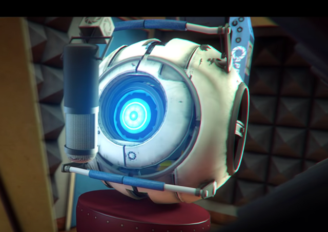 I just noticed that the eye that the turret has in The Pit Song, looks the same as the one that the Narrator Core has in Meet The Cores 2.