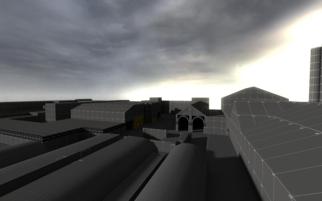"""Sup fellas, it's been a while since the last post. So I've been looking through my old screenshots of dev maps for cancelled mod called """"Riptide"""" I used to work on from 2019 to 2021. It supposed to be an abandoned industrial town of some sorts with trainyard and a big warehouse, heavily inspired by Ravenholm. Hope you like it!"""