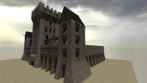 Castle in Romanian style. This only brush version Download from my website: https://posylkin.com/storage/castle_01.zip OR find AlexPos on GameBanana