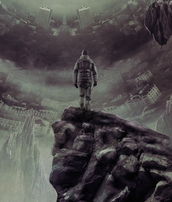 """Before The Seven Hour War...  After Gordon spoke to G-MAN, on Xen, at the end of Half-Life, he would have a """"vision"""" of a huge portal / wormhole and can see the Earth and its cities ; The future direction of the Xen creatures... He stays there, standing, knowing that there is nothing he can do. - """"A Battle You Have No Chance Of Winning""""  PS: In the lower left and right, we can see that the """"cities"""" merge with the rocks of Xen. A vision provoked by the G-Man.  #CommunityCreations"""
