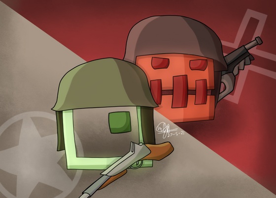 Old arts again, but this time it's Geometry Dash x (Valve IPs). I picked TF2, Portal 2, DoD:S and CS:Go for this. Sadly, I have no mood of continuing this for now (because I have L4D2 and HL in work and currently not working on it since forever :( ).  Yes, the guns are inaccurate because I didn't know anything about guns, shush it.